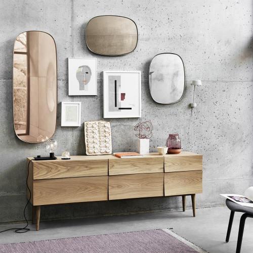 Muuto Framed Mirror. Mirrors. Scandinavian interior design. Picture wall ideas for living room. hanging pictures on walls ideas. photo wall design ideas