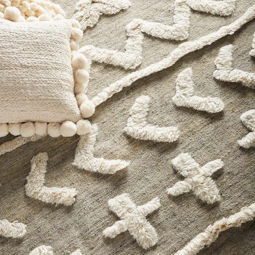 Anthropologie Minna Tufted Wool Rug