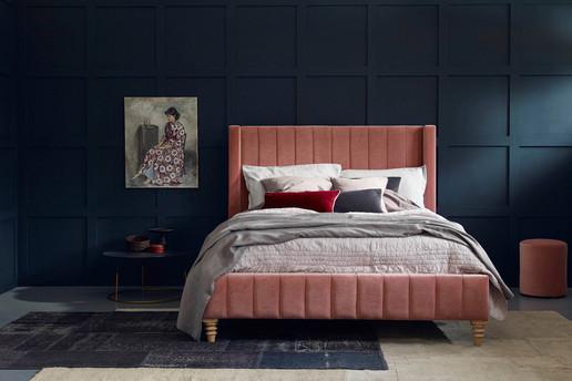 Ribbed Headboard Bed