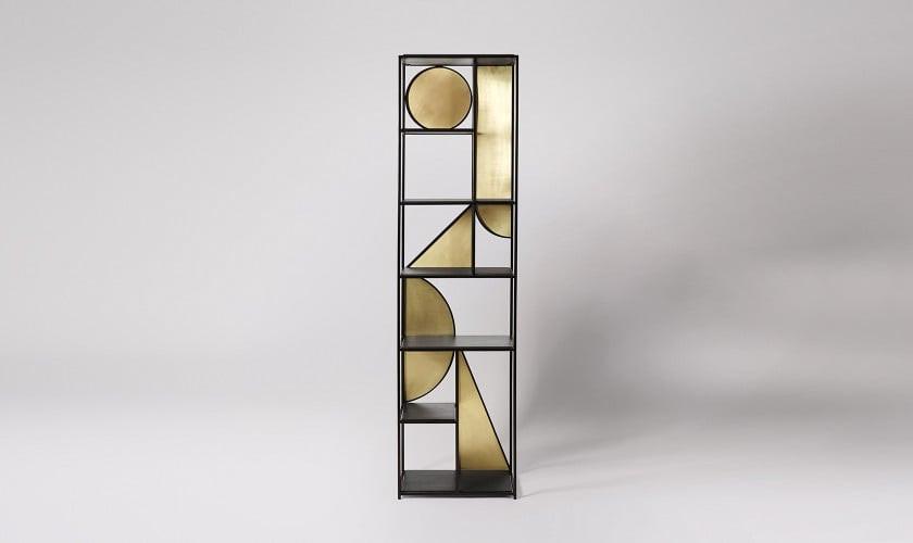 Pablo Shelving, Black Steel. Living room shelves. Book shelve