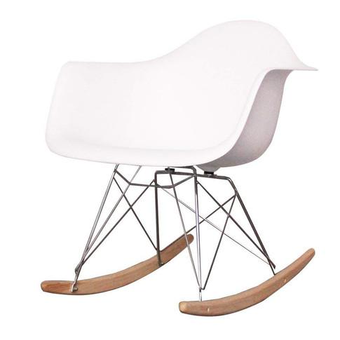 Retro White Rocking Chair