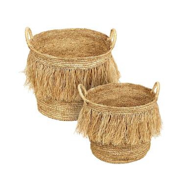 Raffia Hula Baskets