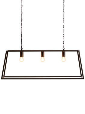 Large Metal Trapeze Pendant