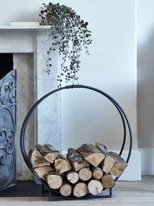 Round Iron Log Holder. Fireplace accessories