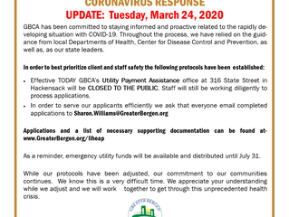 GBCA Utility Payment Assistance Coronavirus Response - March 24, 2020 UPDATE