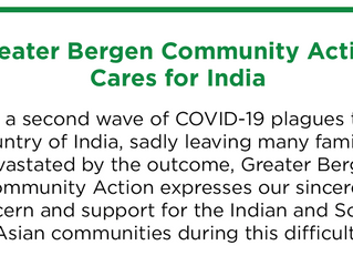 Greater Bergen Community Action Cares for India