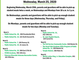 GBCA PATERSON HEAD START UPDATED MEAL DISTRIBUTION SCHEDULE - MARCH 25, 2020