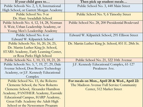 Paterson School District Food Distribution Schedule - April 20th UPDATE