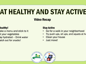 WATCH & LEARN: Eat Healthy & Stay Active with Audra Tamayo, Assoc. Dir. of Food & Nutrition