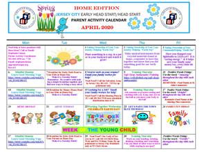 GBCA Jersey City Head Start April 2020 Parent Activity Calendar and Resources At A Glance
