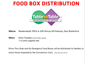 YMCA Distributing Emergency Food Boxes