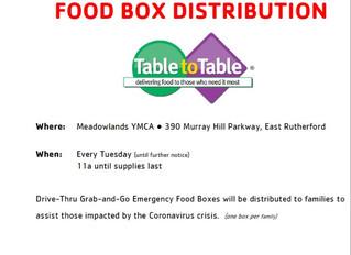 YMCA Distributing Emergency Food Boxes