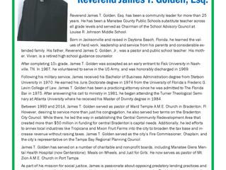 1st Bergen Federal Credit Union's 11th Annual Meeting - Guest Speaker Rev. James T. Golden, Esq. Bio