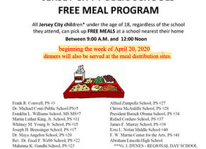 Jersey City Meal Distribution Update - April 21