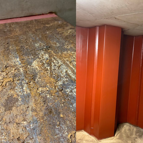 Project: Painting & Decorating metal piles for car park - Oakleigh Road