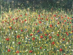 Plock Court Meadow     Acrylic by Sue Trickey   2020