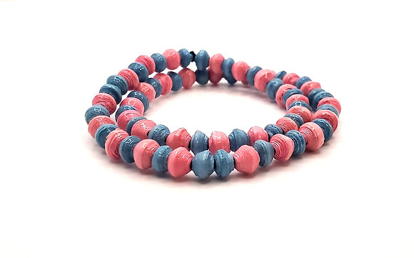 Wrist Choker Pink/Blue