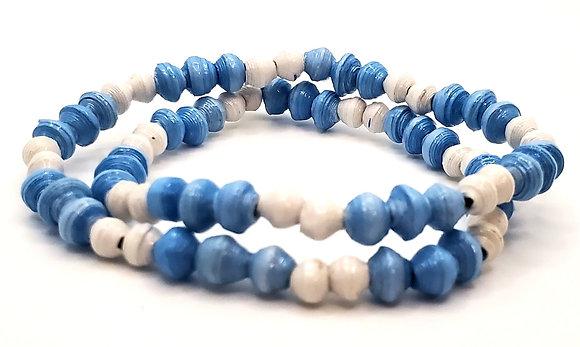 Wrist Choker Blue/White