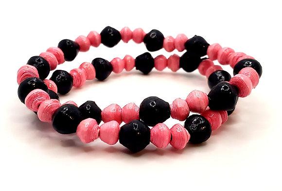 Wrist Choker Pink/Black