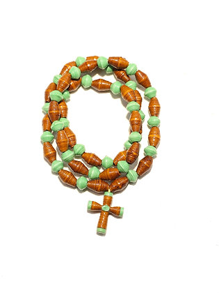 Torn Pages Cross Necklace