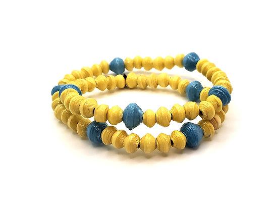 Wrist Choker Yellow/Blue