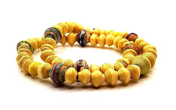 Wrist Choker Yellow/Texture