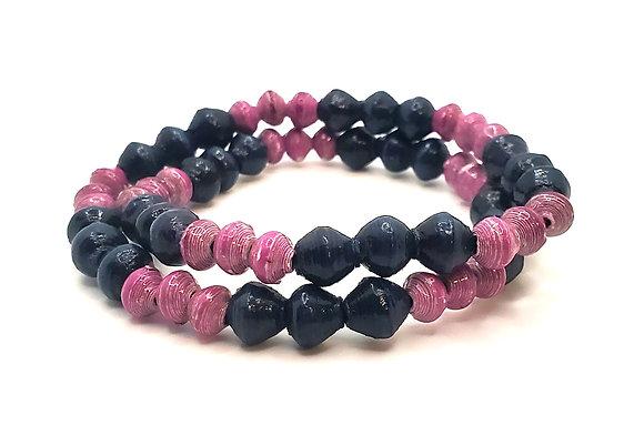 Wrist Choker Purple/Navy