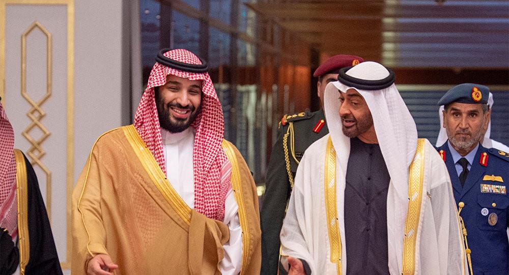 Muhammad bin Salman and Muhammad bin Zayid. The Middle East. UAE, Saudi Arabia, Israel