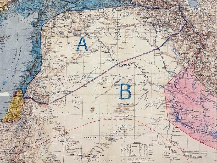 The original Sykes-Picot map.
