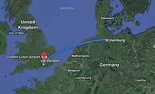 הביטלס נוסעים מהמבורג ללונדון.