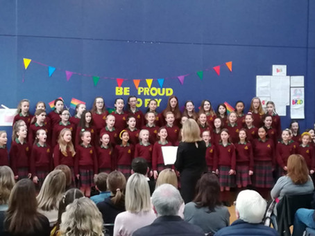 Our School Choir and Trad Band!