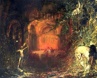 Parsifal and Knights of Holy Grail (Marc