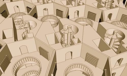 Library of Babel hexagonal floorplan.jpg