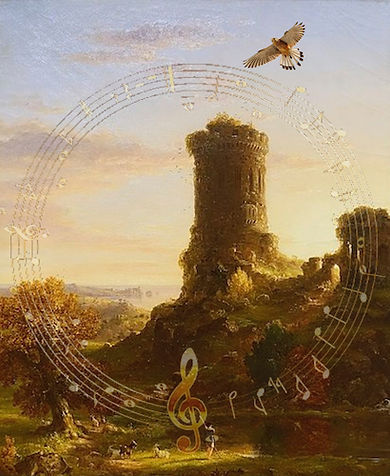 Landscape with Tower in Ruin (Cole 1839)