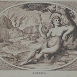 Female personification of America as a woman (van Dalen c. 1648)