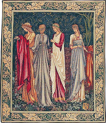 The Ladies of Camelot tapestry (Burne-Jo
