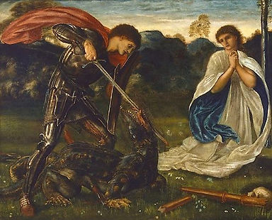 St George KIlls Dragon (Burne-Jones).jpg