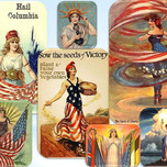 Goddess Columbia collage