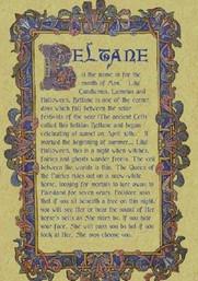 Beltane plaque