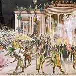 Carnival With Fireworks On November (Mary Evans Picture Library 1907)