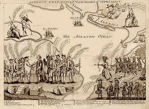 Liberty Triumphant, or the Downfall of Oppression (London engraving 1774).jpg