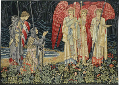Vision of the Holy Grail tapestry 1 (Bur