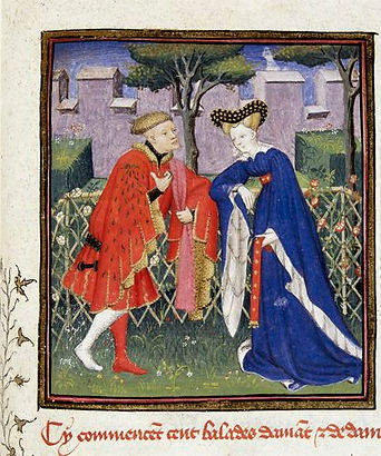 Lover and Lady in Garden of Love (The Bo