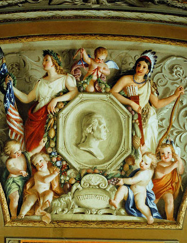 Columbia and Indian Princess (fresco in U.S. Capitol, Brumidi 1855-56).jpg