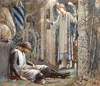 The Earthly Paradise_Sir Lancelot at Cha