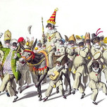 Procession of King Punch during the Roman Carnival (Stuermer early 19th c.)