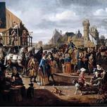 Carnival Scene (Naiveu 17th c.)