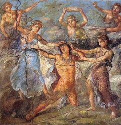 Sparagmos of Pentheus by Maenads (Pompei