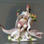 Personification of the Americas from porcelain set of the Four Continents (Kandler c. 1760)