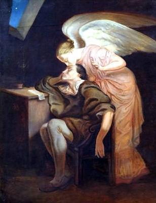 Dream of Poet Kiss of Muse (Cezanne).jpg
